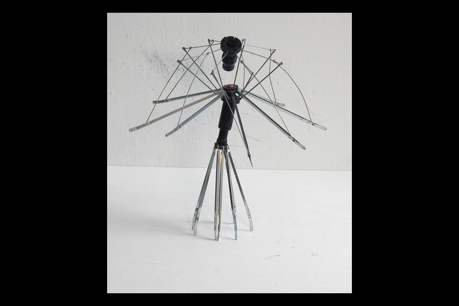 Venus, found umbrella parts; 2010