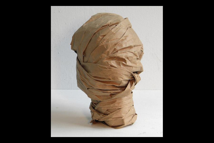 Bust, found paper, 2010